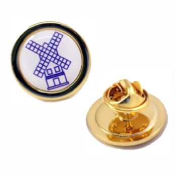 20mm superior quality gold pin badge